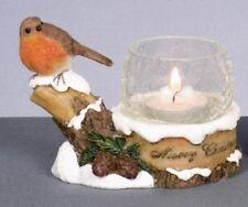 Festa Natale Robin CANDLE HOLDER NEW 11299