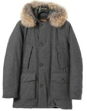 NWT men Woolrich John Rich Arctic Parka Gray Wool Coyote Fur sz XL $ 900