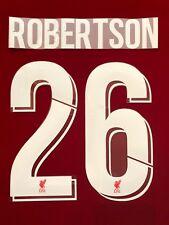 2018/19 LIVERPOOL CHAMPIONS LEAGUE #26 ROBERTSON HOME NAME SET