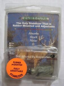 NEW QUIET-TUNE MOSSY OAK CAMO 4 OZ RUBBER MOUNTED ADJUSTABLE BOW STABILIZER
