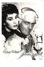 B55175 Corny Colins and Carles Rompson Couple Acteurs Actors 9x7cm