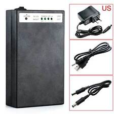 DC 5V/12V 2 In 1 Rechargeable 15000Mah Li-ion Battery Pack US Adapter Black 66