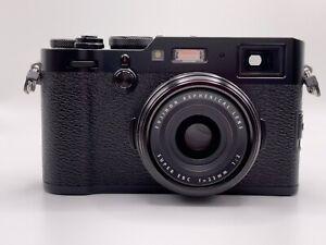 1300 Shots - FUJIFILM X100F 24.3 MP 23mm Digital Camera Black From California