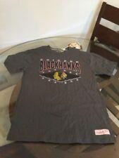 NWT Chicago Blackhawks Gray Mitchell & Ness T-Shirt Medium Brand New With Tags!!