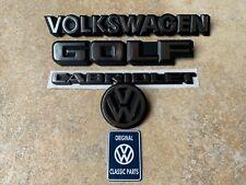 Mk1 Golf GTI Cabriolet Karmann REAR (4) Badge SET NEW OEM