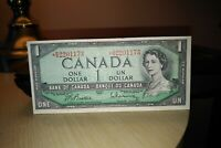 1954 Replacement $1 Dollar Bank of Canada Banknote BM2201173 VF-EF