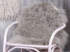 Bloomingville MONGOLO PELLICCIA AGNELLO Grigio, pelle di pecora 50x90, morbido