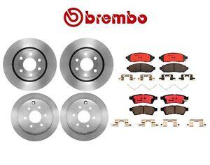 Brembo Front Rear Brake Kit Disc Rotors Ceramic Pads for Nissan Xterra Frontier