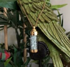 Gold Plated Fluorite Vial Necklace Chakra Healing Jewellery