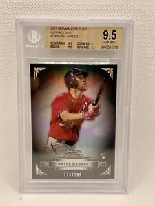 2012 Bowman Sterling Bryce Harper RC Refractor #/199 BGS 9.5 Gem Mint