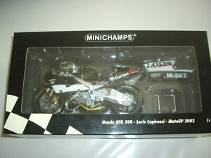 MINICHAMPS 1/12 HONDA NSR 500 . LORIS CAPIROSSI  MOTO GP 2002