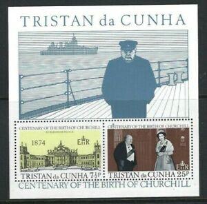 Tristan da Cunha 1974, Birth Centenary of Sir Winston Churchill sgMS195 MNH