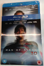 MAN OF STEEL Brand New 3D (and 2D) BLU-RAY w/ Lenticular SLIPCOVER 2013 movie