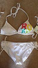 $82 Roxy Padded Logo Bikini Swimsuit NWT M