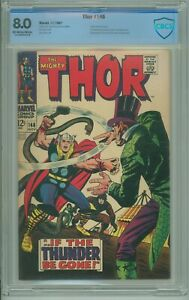 Thor # 146 CBCS 8.0 VF Jack Kirby Stan Lee 1967 Origin of the Inhumans