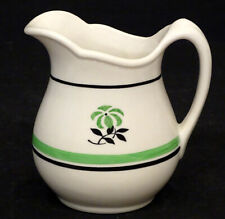 MAYER CHINA Vintage GREEN BAND Diner Hotel Restaurant Ware CREAM PITCHER Creamer