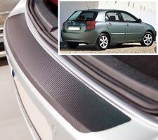 Toyota Corolla Hatchback - Carbon Style rear Bumper Protector