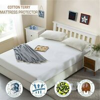 NEW WATERPROOF MATTRESS PROTECTOR TERRY FITTED SHEET BEDDING COVER ALL SIZES