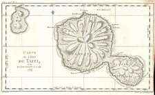 1769 Bellin Map of Tahiti