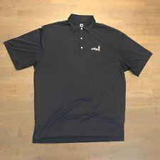 FootJoy Golf S/S Striped Polo Shirt Gray Blue Men's Size XL SKENANDOA CLUB