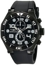 Invicta Men's 15397 Pro Diver Chronograph 50mm Black Dial Black-PVD Watch