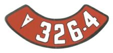 Pontiac 326-4V Air Cleaner Decal, Red & White on Silver