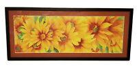 Oregon Artist Janet Biles Sunflowers Giclee Signed Print Framed Watercolor *$200