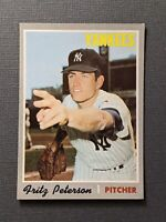 1970 Topps #142 Fritz Peterson New York Yankees EXMT