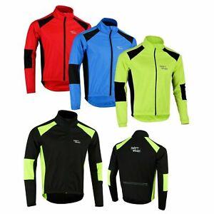 Cycling Jacket Winter Thermal Fleece Windproof Long Sleeve Bike Coat Mens Warm