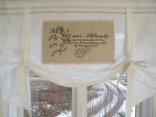 Raff Gardine ENGEL Rollo 100x90 Offwhite LillaBelle Shabby Vintage Curtain
