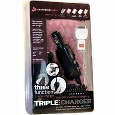 Electronic Metro Triple Charger Bundle (Auto, Home, Emergency) Universal phone C