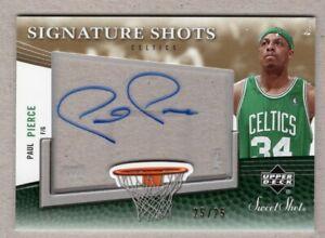2006-07 Sweet Shot Paul Pierce Signature Shots Autograph 25/25