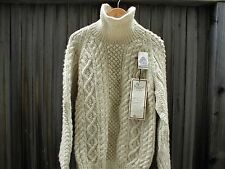 Wool Turtle Neck Sweater 1980s McMahons Farm Hand Knitted  VTG NWT Womens L XL