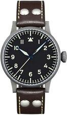 New! Laco 861748 Pilot Watch Original Munster 42mm Automatic Black Face Watch