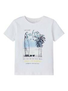 NAME IT kurzarm T-shirt NKMVictor weiß Summer Adventure Größe 116 bis 146/152