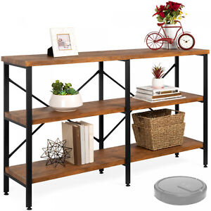 Industrial Hallway Console Table for Living Room, Entry Way, Display case