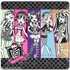 "MONSTER HIGH Large 10.25"" Square Dinner Paper PLATES 8 ct. Birthday Supplies"