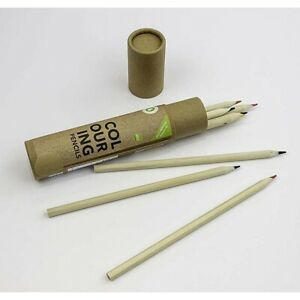 8 ECO Friendly Colouring Pencils in reusable storage tube  -  5012128558245