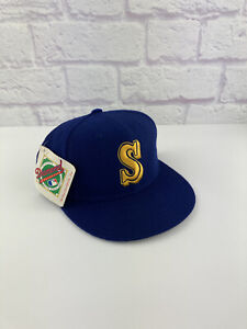NWT Vintage 90's MLB Seattle MARINERS New Era Fitted Hat Cap Size 7 GRIFFEY Rare