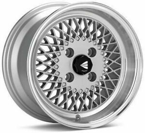 Enkei92 Classic Line 15x7 38mm Offset 4x100 Bolt Pattern Silver Wheel