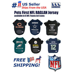 NFL DOGS & CATS Premium Raglan Mesh Jersey. Licensed, durable, breathable Jersey