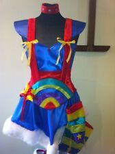 Rainbow Dame Korsett Kostüm helle Farben alle Größen