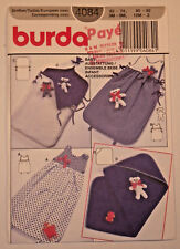 Burda-4084 Baby Bunting Bath Towel Toy Bear Sewing Pattern SZ 3M-9M-12M-2 Cut