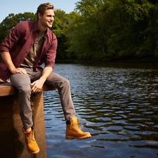 Timberland Original Classic 6-Inch Basic Waterproof Boots Nubuck Tan MEN 11.5 12
