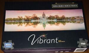 750 Piece Mega Puzzles Vibrant United States Capital Building FREE SH Washington
