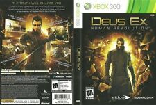 Deus Ex: Human Revolution Microsoft Xbox 360 COMPLETE WHITE LABEL with Slipcover