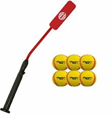Complete Baseball Softball Batting Practice Kit Includes 1 Size 7 Bat & 12 Balls
