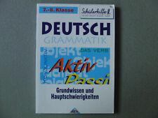 Deutsch Übungsbuch Grammatik 7.- 8. Klasse