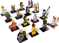 Lego SERIE 3 MINIFIGURINE TORSE TÊTE JAMBE PERSONNAGE Torso Head Tool Lot 8803
