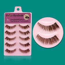 NEW F13E 5 Pairs/box  Fake eye lashes Brown Thick Fashion Daily False Eyelashes